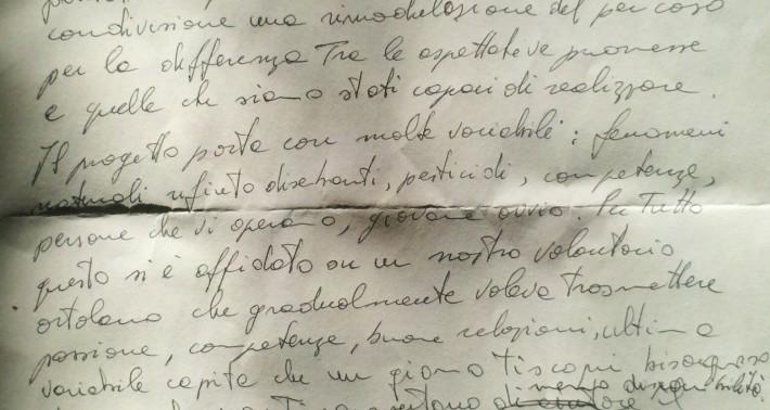 La lettera di Andrea